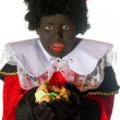 Black Piet with candy — Stock Photo