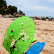 Stock Photo: Tropical parasol at beach