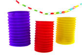Paper chain and Chinese lanterns — Stock Photo