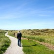 Ameland walking the dog — Stock Photo #4070686