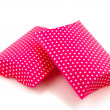 Pink dotted presents — Stock Photo
