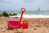 Toys at the beach — Stock Photo