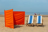 Dutch beach near the North-sea — Stock Photo