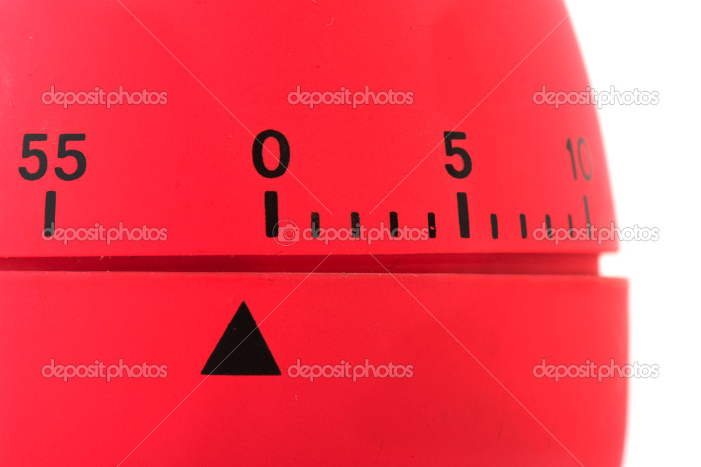Clock for timing the cooking minutes isolated over white — Stock Photo #4071301