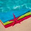 Towels at the swimmingpool — Stock Photo #4125364