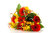 Flower bouquet in orange and yellow — Stock Photo
