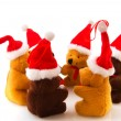 Christmas bears in a circle — Stock Photo