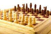 Playing checkers — Stock Photo