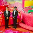 Wedding day for gay couple - Stock Photo
