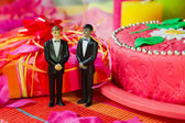 Wedding day for gay couple — Stock Photo