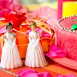 Wedding day for lesbian couple - Stock Photo