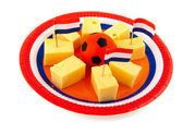 Dutch cheese cubes — Foto de Stock