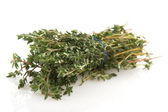 Thyme on white background — Stock Photo