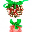 Candy Christmas wreaths — Stock Photo