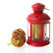 Red Christmas lantern — Stock Photo