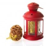 Red Christmas lantern — Stock Photo