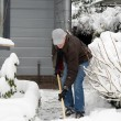 Man is removal snow — Stock Photo