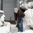 Man is removal snow — Stock Photo #4535674