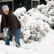 Stock Photo: Man is removal snow