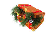 Wooden Christmas crate — Stock Photo