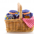 Stock Photo: Wicked cane picnic basket