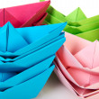 Stock Photo: Paper boats