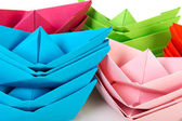 Papírové lodě — Stock fotografie