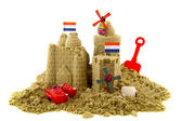 Sandcastle at the Dutch beach — Stock Photo
