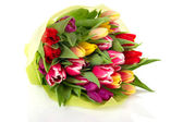 Colorful bouquet tulips — Stock Photo