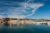 Harbor in San Feliu de Gauxols — Stockfoto