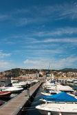 港口在圣费里乌德 gauxols — 图库照片
