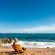 Man relaxing at the beach — Stock Photo #4845986