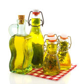 Olive oil various herbs — Stock Photo