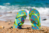 Ojotas en la playa — Foto de Stock