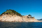 Castle at Spanish coast — Stock Photo