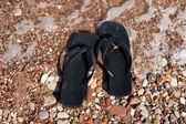 浜のフリップフ ロップ — ストック写真