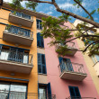 Beautiful colorful Spanish apartments - Stock Photo
