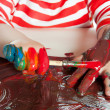 Painting child - Stock Photo