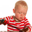 Painting child — Stock Photo