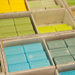 Colorful soap bars in the French Provence — Stock Photo