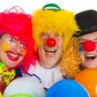 Happy clowns — Stock Photo