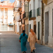 Maroc woman in Spain - Stock Photo