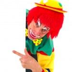 Pointing clown — Stock Photo