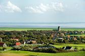 Typical Dutch village Hollum — Stock Photo