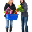 Two shopping woman in the supermarket — Stock Photo #5012061