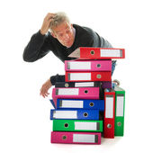 Doing paper administration — Stock Photo