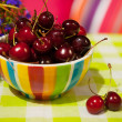 Cherries in the garden — Stock Photo