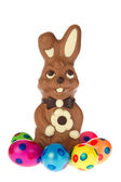 Easter hare from chocolate — Stock Photo