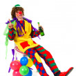 Clown after the party — Stock Photo