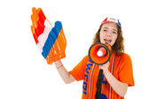 Girl is supporting the Dutch — Stok fotoğraf